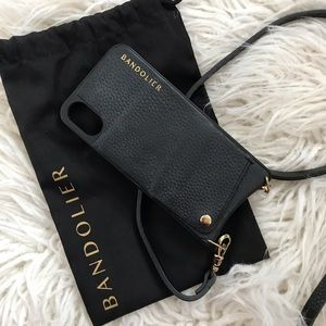 Emma Pebble Leather Crossbody Bandolier 8/7/6+ 📱